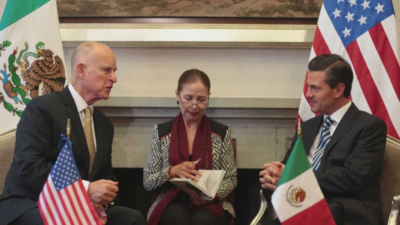 Gov. Jerry Brown traveled to Mexico to discuss an array of topics, including immigration.