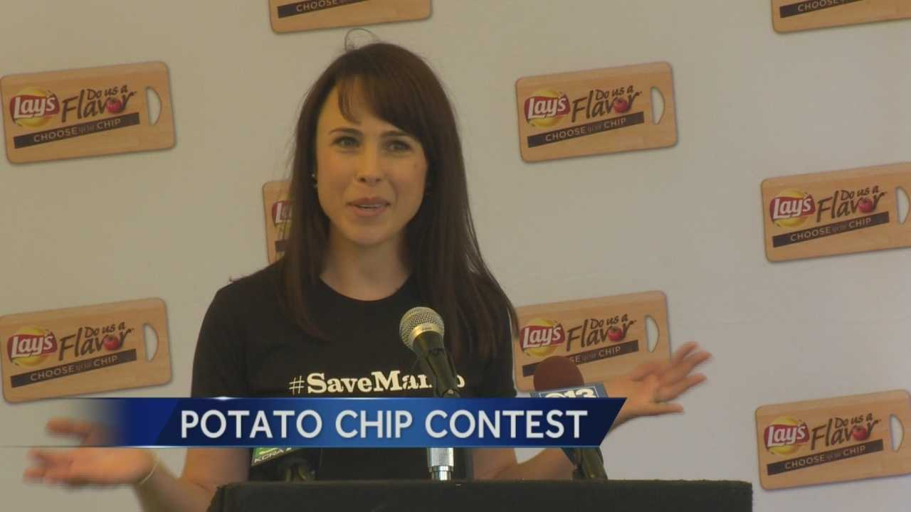 "Julia Stanley-Metz is one of four finalists in Lay's ""Do Us A Flavor"" potato chip contest. The Sacramento woman is competing for the chance to win $1 million with her mango salsa chip recipe. A party was held Tuesday to celebrate Stanley-Metz's accomplishment at the World Peace Rose Garden on the state Capitol grounds. She said she came up with the idea while cooking with her husband. Her competiton? The following flavors: Ginger wasabi, bacon macaroni and cheese and cappuccino."