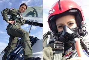 13.) I kept my cool while I was on assignment flying with the U.S. Thunderbirds.