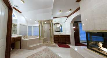 Take a peek inside the master bathroom.