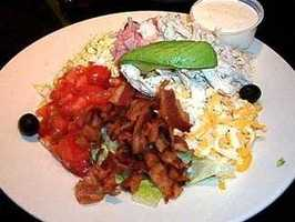 1) Cobb Salad -- The salad consisting of bacon, chicken, eggs and avocados was invented at Hollywood's legendary Brown Derby.