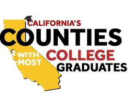 See how many people have college degrees by county in California. How does your county rate?