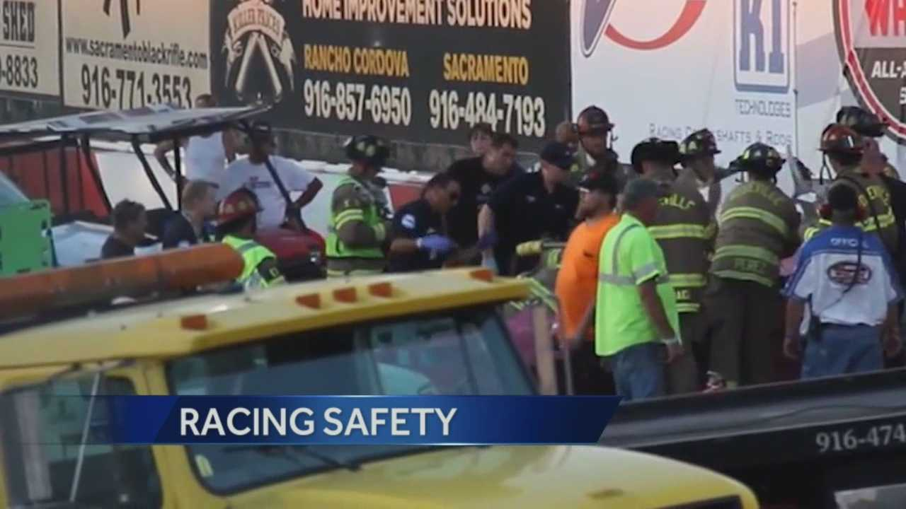 A racecar driver was killed while racing in New York Saturday night, while locally a driver was in critical condition after crashing her car.