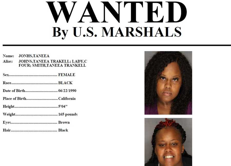 Taneea Johns is wanted by U.S. Marshals on charges of human trafficking, pimping and pandering. Johns has a violent criminal history and should be considered armed and dangerous. Click here for more information.