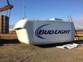 """The new turbine named """"Bud Light"""" joins the brewery's original turbine named, you guessed it, """"Budweiser"""" to bring the facility's alternative energy generation to 4.1 megawatts."""