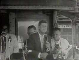On Sept. 8, 1960, Sweet witnessed a large crowd that gathered at the Sacramento Southern Pacific Station to greet a special train carrying the then-candidate John F. Kennedy as he campaigned for president.