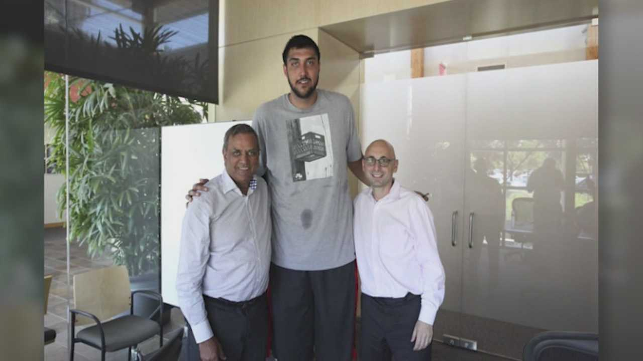 The Sacramento Kings announced they signed Sim Bhullar, who stands a whopping 7 foot 5 inches.