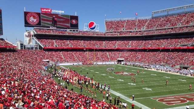 Inside the new Levi's Stadium, at a San Francisco 49ers preseason game Sunday (Aug 17, 2014).