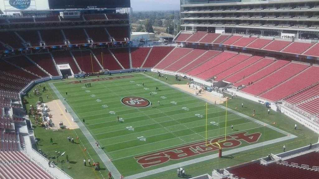 49ers field, san francisco 49ers, santa clara stadium, levi's stadium