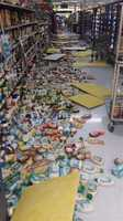 Damage from the earthquake at a Walmart in Vallejo. (Aut. 24, 2014)