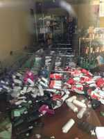 A KCRA Insider sent in this photo of earthquake damage at a Vacaville store.