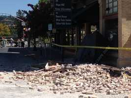 A magnitude-6.0 earthquake resulted in damage at stores, buildings and homes in Northern California. (Aug. 24, 2014)