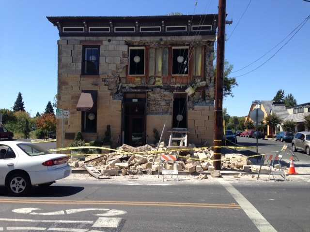 Here's a look at some damage to one of Napa's oldest buildings. (Aug. 24, 2014)