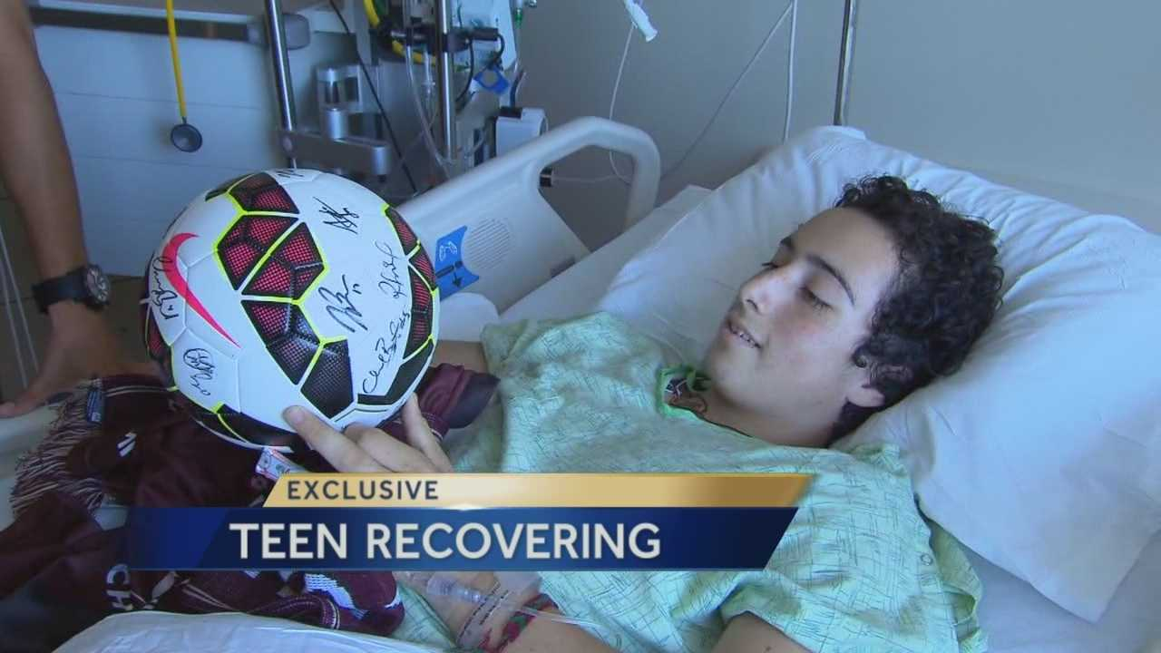 A Napa teenager injured in Sunday morning's earthquake is recovering at UC Davis Medical Center.