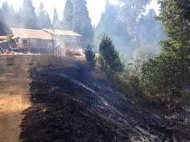 Fire crews said defensible space was difference in protecting this home from the King Fire. (Sept. 15, 2014)