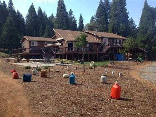 Flammables were removed from this home located not far from the King Fire.