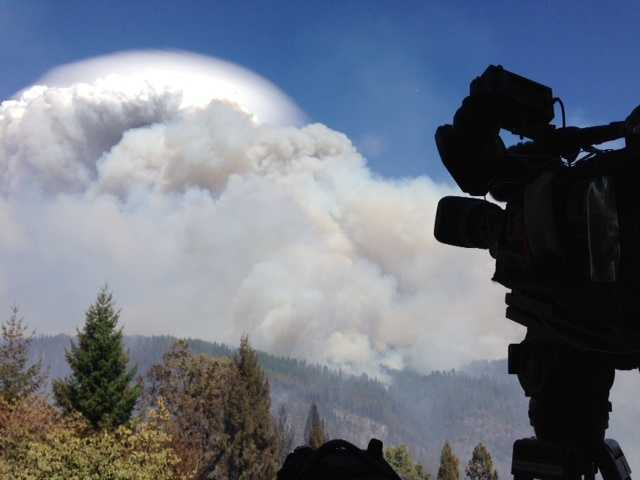 The King Fire flared up Monday afternoon in El Dorado County. (Sept. 15, 2014)