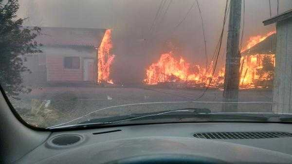 @bostonN took the following photo of the Boles Fire in Weed. (Sept. 15, 2014)