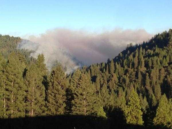 The King Fire in Pollock Pines grew in size on Tuesday.
