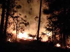 Highway 50 was closed in both directions on Tuesday as fire crew continued to get a hold of the King Fire.