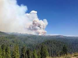 The King Fire grew by thousands of acres overnight and had burned through nearly 29 square miles. Winds in the area picked up Wednesday afternoon.