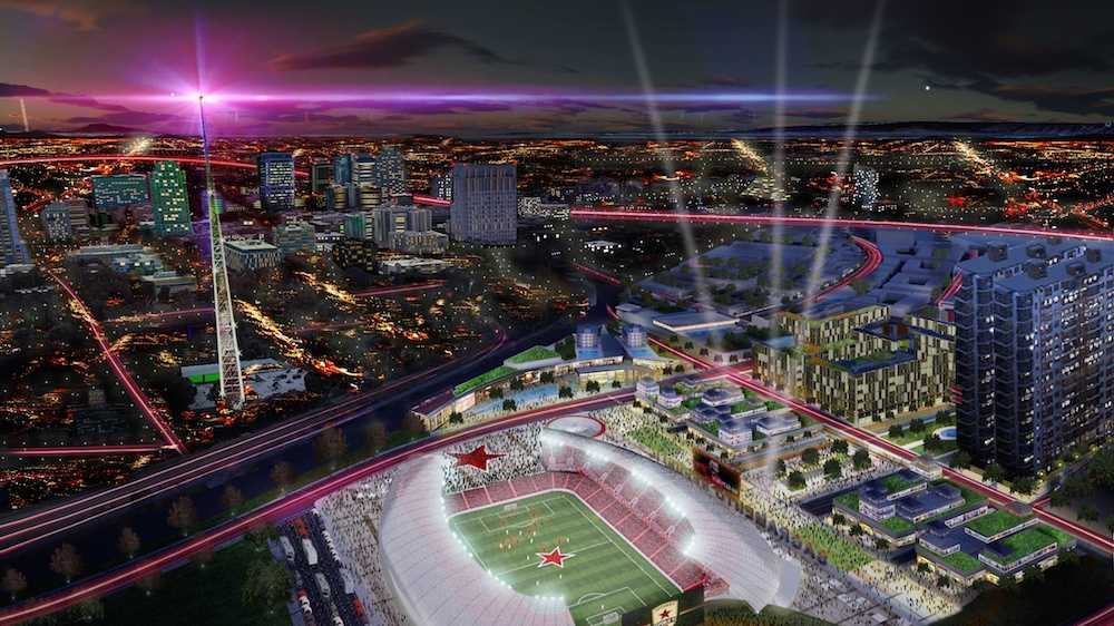 This rendering was released Wednesday (Sept. 17, 2014).*Rendering represents an early concept of a potential stadium.