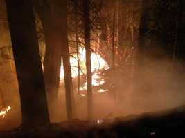 Highway 50 east of Pollock Pines was closed again Thursday morning as firefighters continued to battle the large King Fire in El Dorado County, which grew to 70,994 acres overnight.