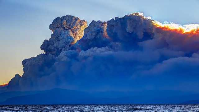 Here's a unique view of the King Fire from Lake Tahoe on Thursday (Sept. 18, 2014).