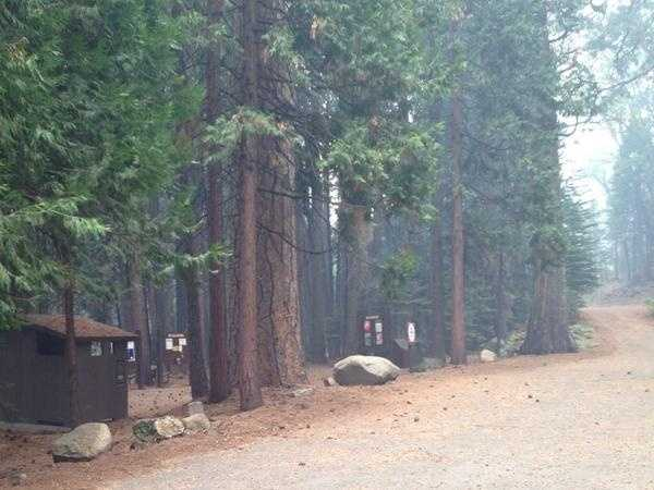 Sheriff deputies evacuated the campgrounds at Hell Hole Reservoir on Thursday morning as the King Fire moved closer (Sept. 18, 2014).