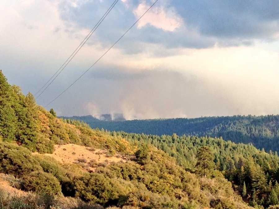 People watched the King Fire burn from a safe distance in Foresthill on Thursday (Sept. 18, 2014).