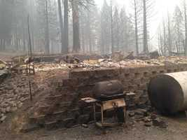 A home burned off White Meadows Road in Pollock Pines. (Sept. 19, 2014)