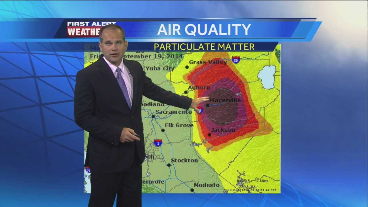 KCRA meteorologist Dirk Verdoorn has the latest on the air quality concerns due to a massive wildfire burning in the Pollock Pines area.
