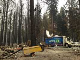 Homeowners told KCRA 3 that at least four homes in a Pollock Pines neighborhood were destroyed in the King Fire. (Sept. 19, 2014)