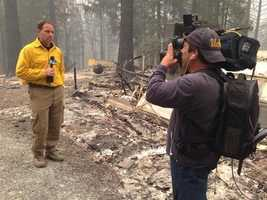 KCRA reporter Brian Hickey reports live at noon from the site of the King Fire. (Sept. 19, 2014).