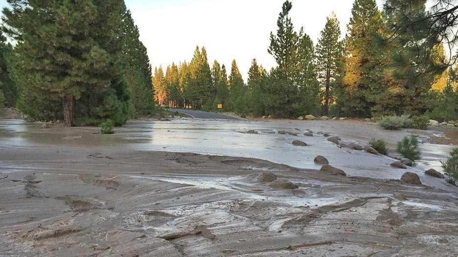 The photo shows a mudslide crossing Pilgrim Creek Road (Sept. 20, 2014).