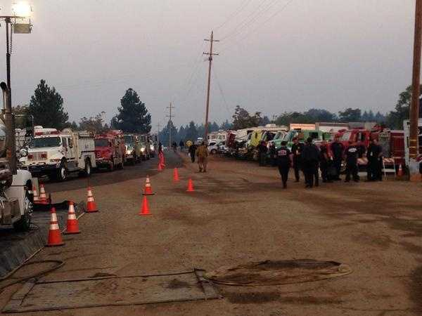 Cooler, wet weather helped firefighters make progress on the King Fire near Pollock Pines.