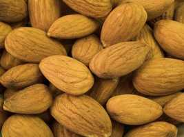 9. Almonds: Perfect for an afternoon snack, as almonds are full of protein.