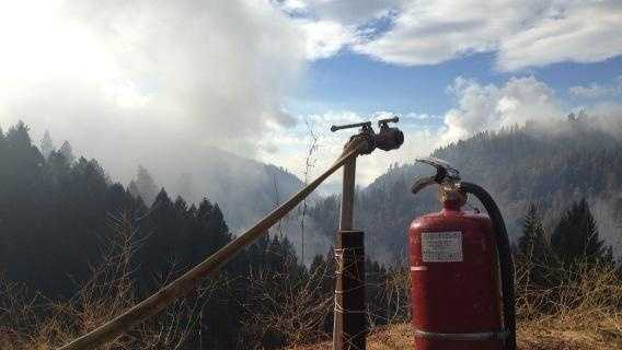 The real extinguisher came from the sky Thursday on the King Fire (Sept. 25, 2014).