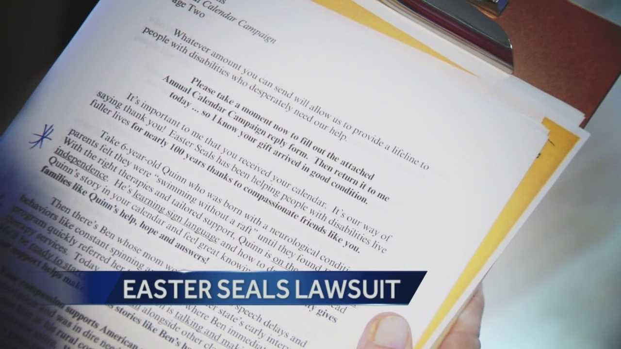 A lawsuit filed against Easter Seals national organization from a local affiliate about were donations made are ending up.