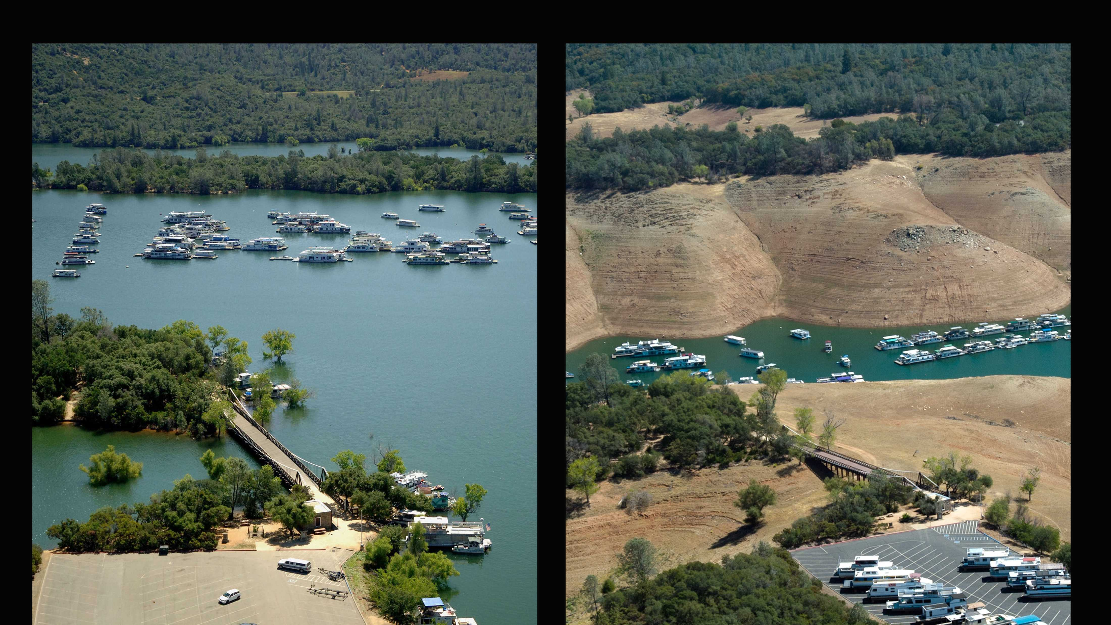 View a portrait of California's drought in these stunning before-and-after photos of Lake Oroville.All photos courtesy of the California Department of Water Resources.