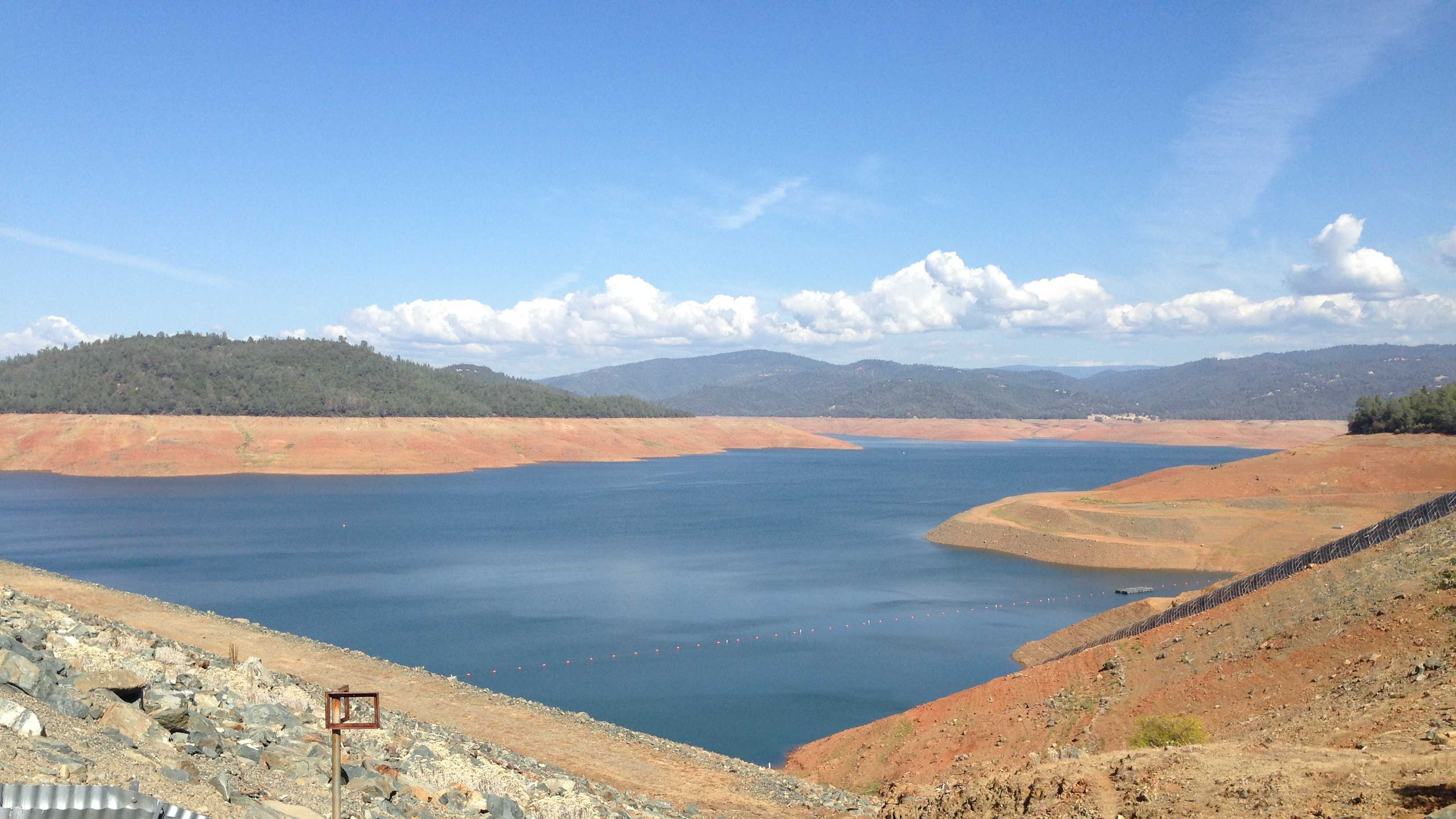 Lake Oroville is California's second-largest reservoir.  It is currently at 30 percent of capacity. Normally, at this time of year, it would be at 49 percent of capacity.