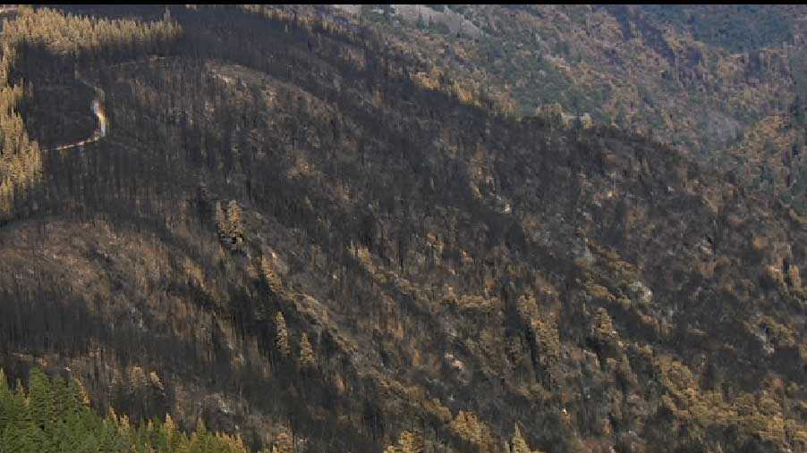 The wildfire scorched more than 97,000 acres -- or about 151 square miles -- in about two weeks.