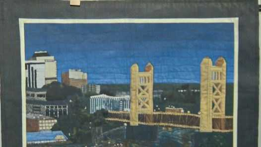 A quilt depicting Sacramento's Tower Bridge was stolen ahead of charity auction this weekend.