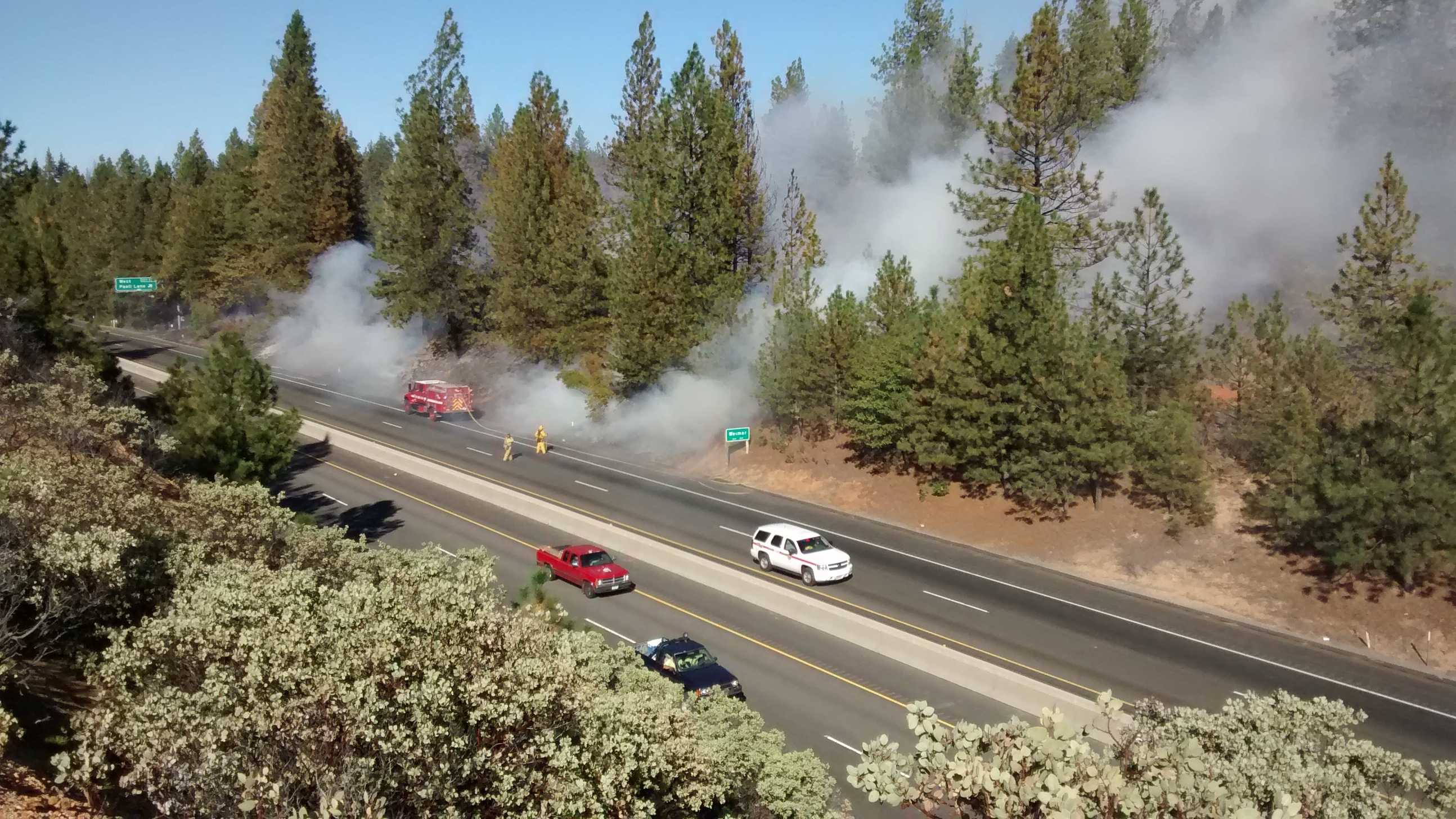 The Applegate Fire, which is more like five to seven small fires, started along I-80 on Wednesday afternoon. Crews continue to battle against the smoke and flames. Many people were evacuated from their homes, and the eastbound lanes of I-80 were shut down for hours (Oct. 8, 2014).