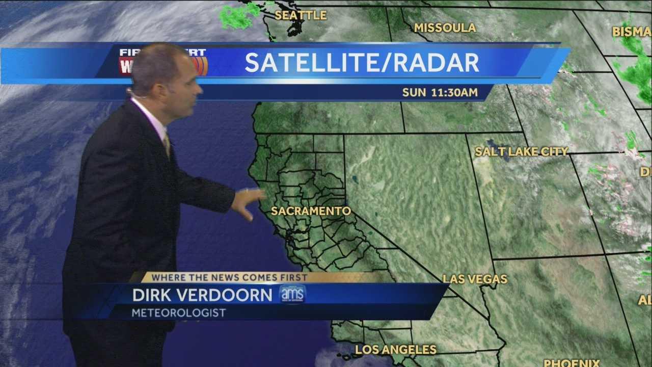 KCRA 3 First Alert Weather meteorologist Dirk Verdoorn tracking when the cooler weather will arrive.