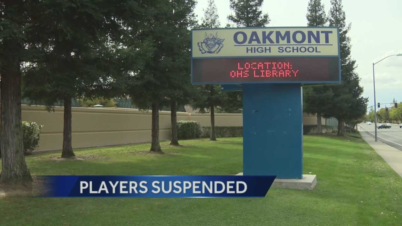 14 varsity football players at Oakmont High School were suspended from the team because of the investigation into a drug arrest against on e player.