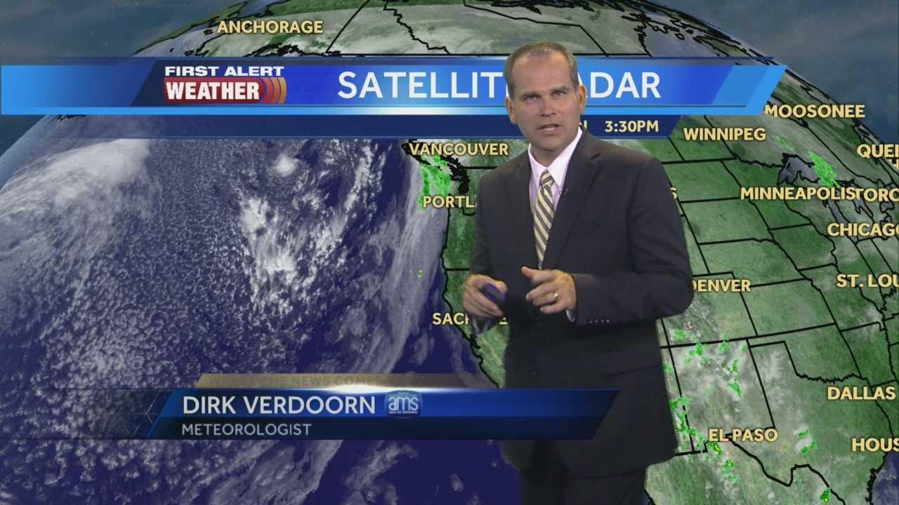 KCRA 3 First Alert Weather meteorologist Dirk Verdoorn tracking the next chance for rain.