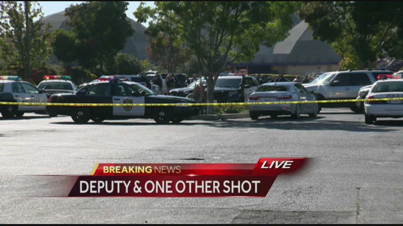 Sgt. Lisa Bowman with the Sacramento County Sheriff's Department said a deputy was shot when he approached a suspicious vehicle and added that the gunman is still on the loose.