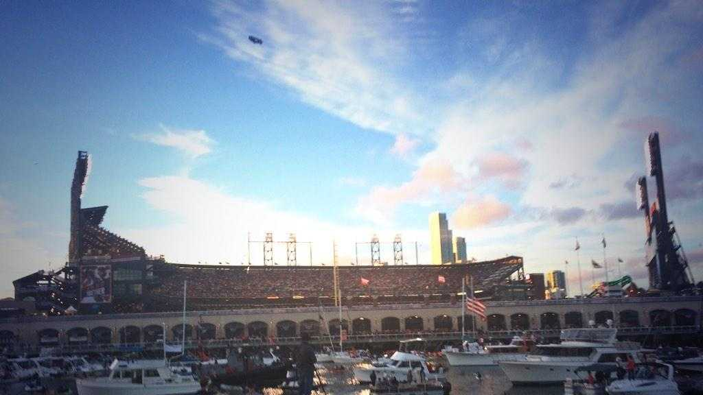 Outside AT&T Park during Game 3 of the 2014 World Series. (Oct. 24, 2014)