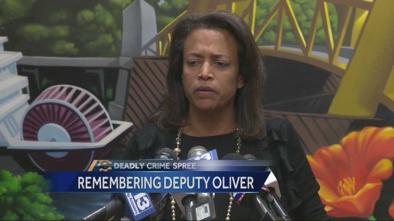 Susan Oliver spoke Monday about her husband, slain deputy Danny Oliver.